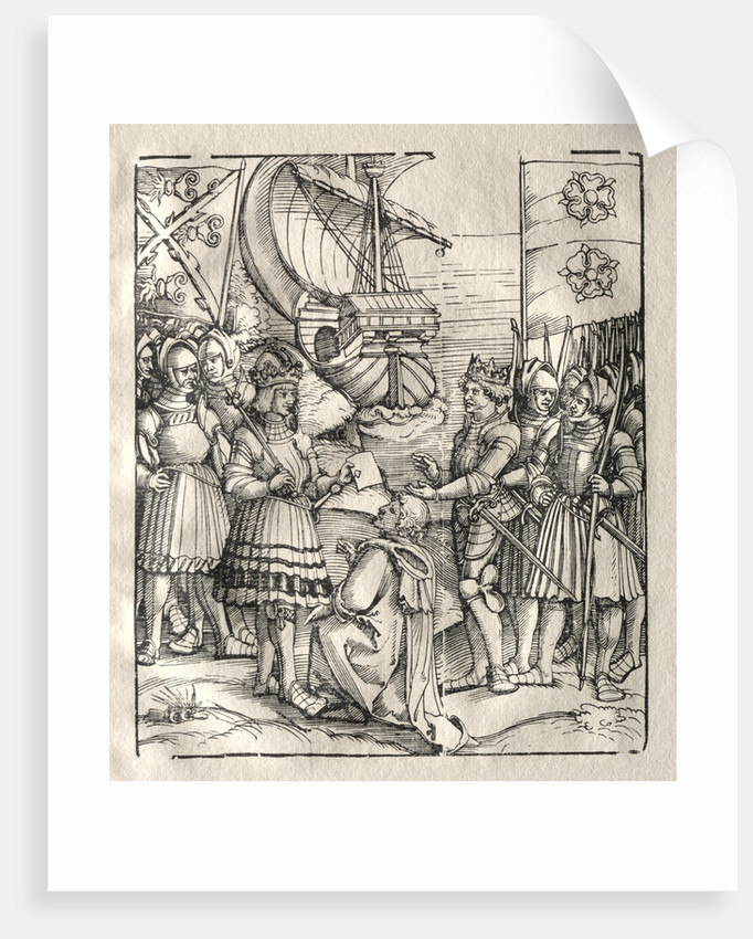 Maximilian Makes Peace with Henry VII by Peter Flötner (possibly)