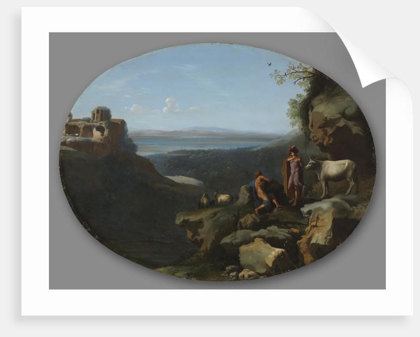 Mercury and Argus in a Landscape, c. 1635 by Dirck van der Lisse