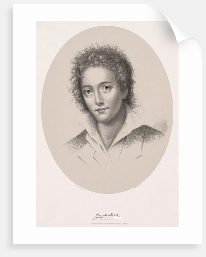 Percy Bysche Shelley, 1867 by Edwin Beyerhaus