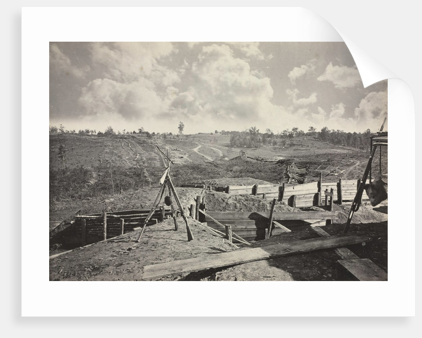Rebel Works in front of Atlanta, Georgia, No. 5, 1865-1866 by George N. Barnard
