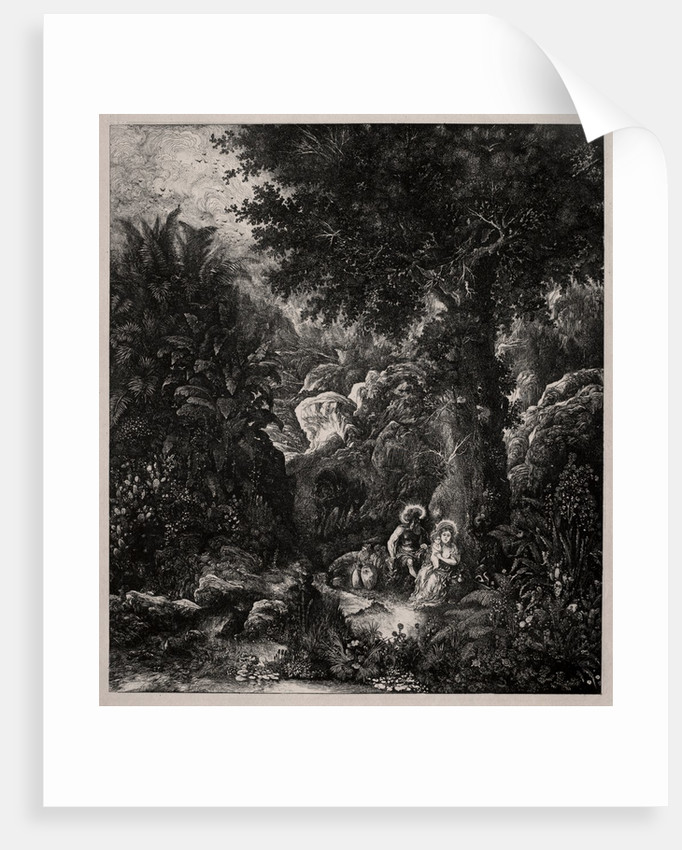 Rest on the Flight into Egypt with a Saddled Donkey, 1871 by Rodolphe Bresdin