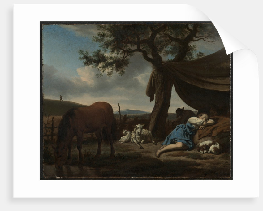 Sleeping Shepherds, 1663 by Adriaen van de Velde
