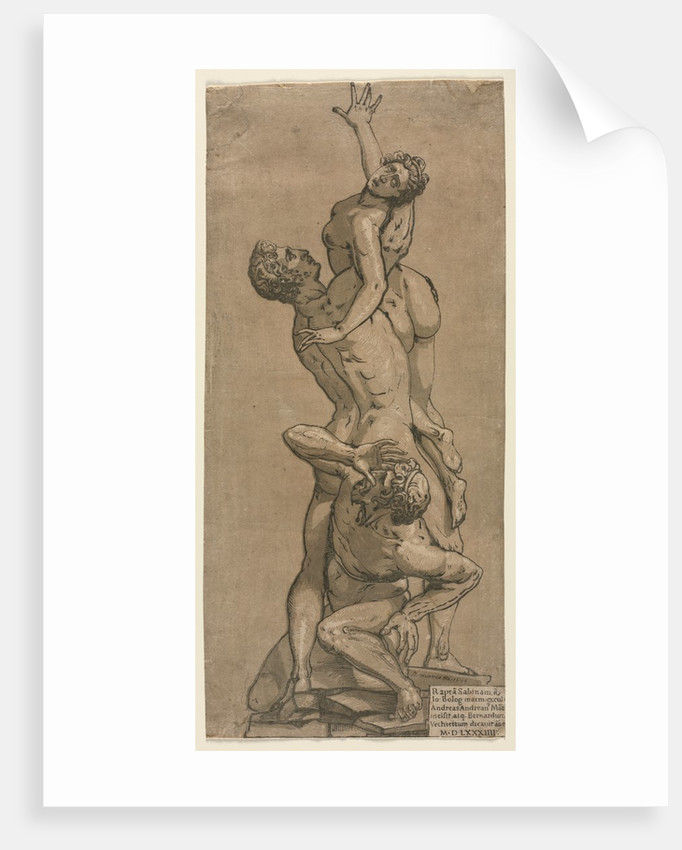 The Abduction of a Sabine Woman by Andrea Andreani