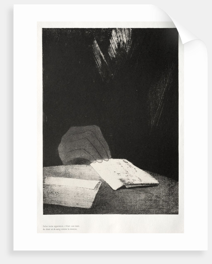 The Haunted House: It Was a Hand, Seemingly as Much of Flesh and Blood as My Own, 1896 by Odilon Redon; Auguste Clot