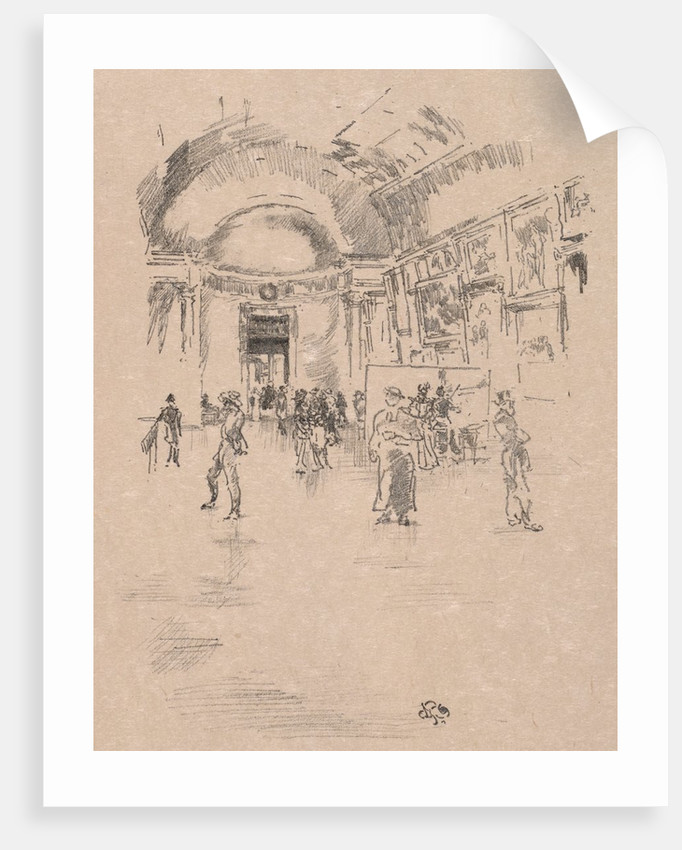 The Long Gallery, Louvre, 1894 by James McNeill Whistler