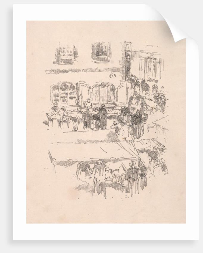 The Market Place, Vitre, 1893 by James McNeill Whistler