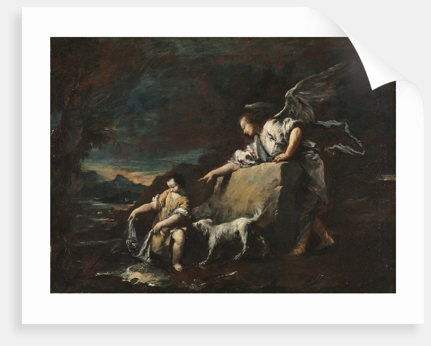 Tobias and the Angel, 1750s by Francesco Guardi