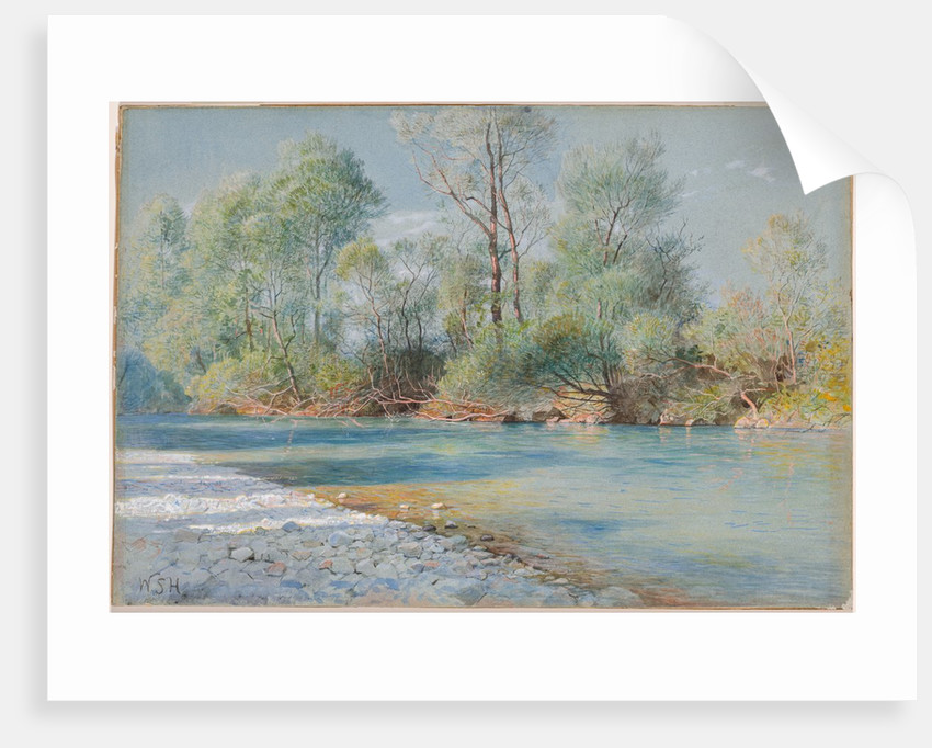 Traunstein River on the Road to Empfig, Bavaria, about 1893-96 by William Stanley Haseltine
