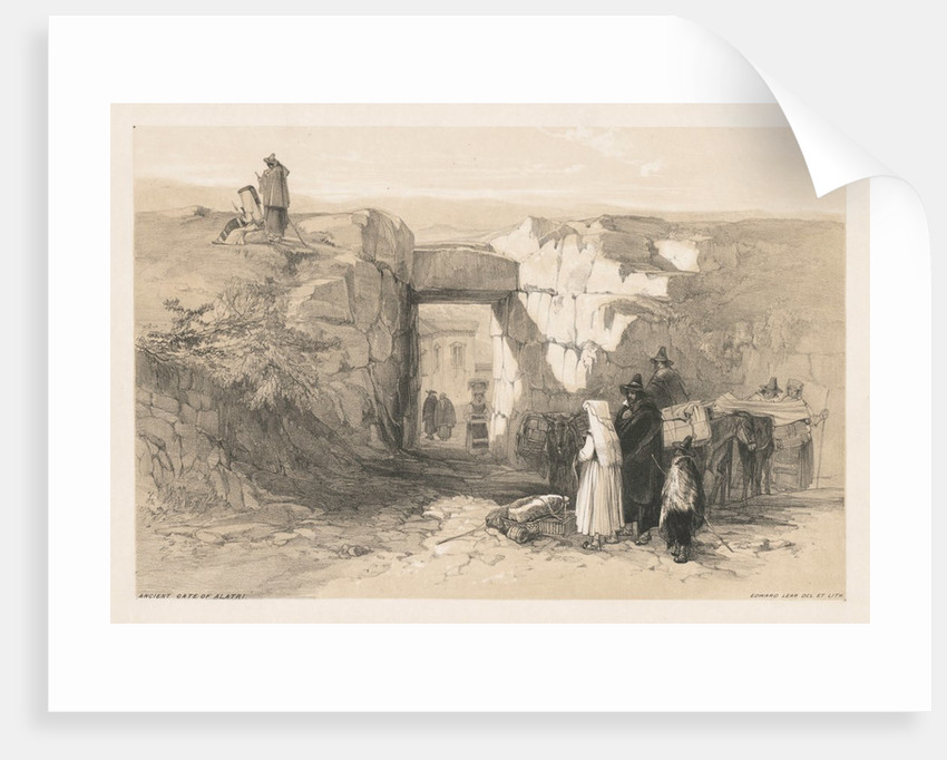 Views of Rome and Its Environs: Ancient Gate of Alatri, 1841 by Edward Lear
