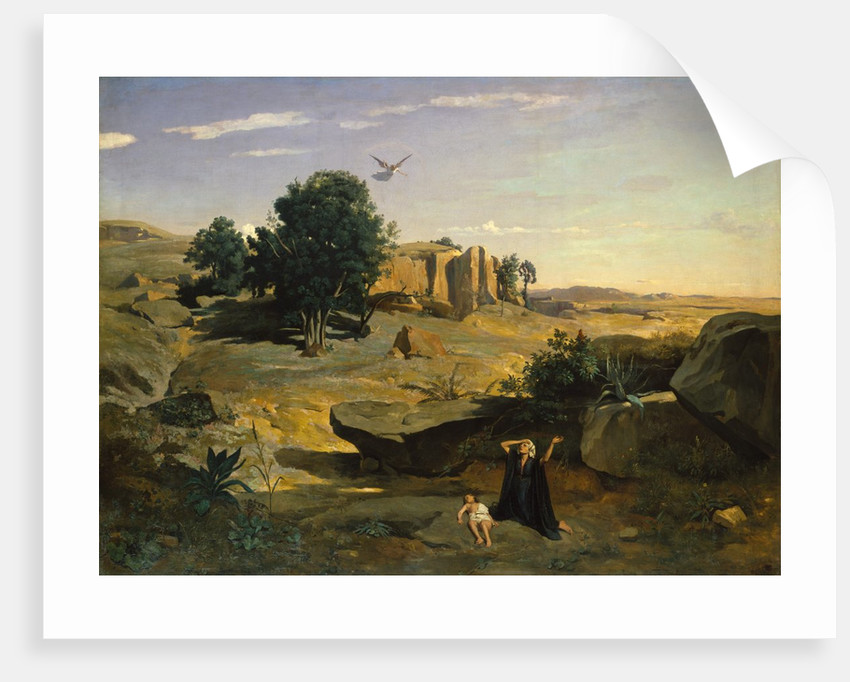 Hagar in the Wilderness, 1835 by Jean-Baptiste-Camille Corot