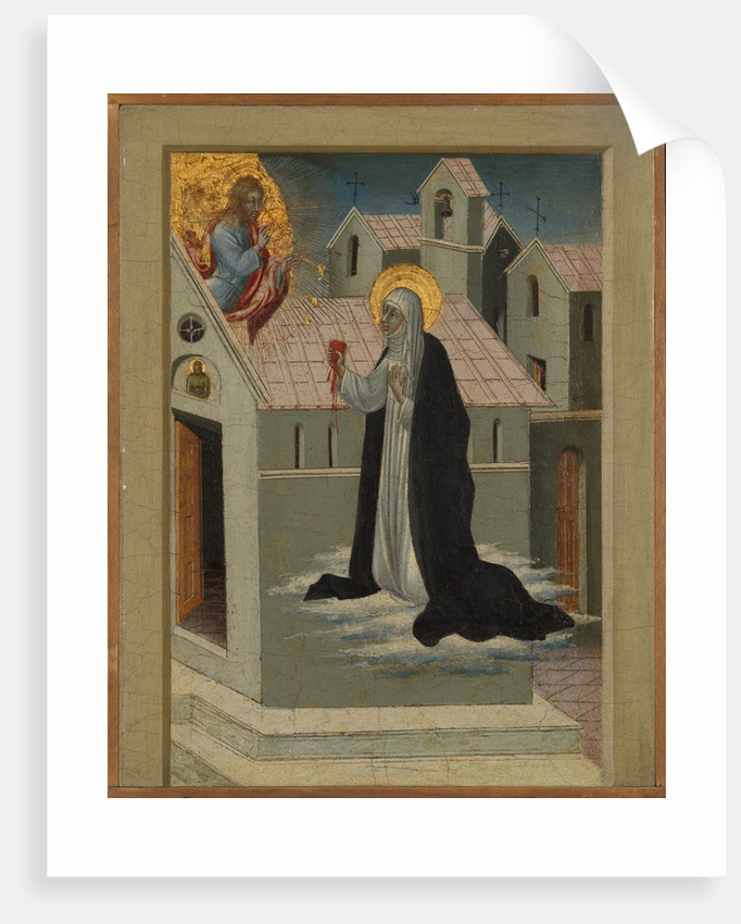 Saint Catherine of Siena Exchanging Her Heart with Christ by Giovanni di Paolo