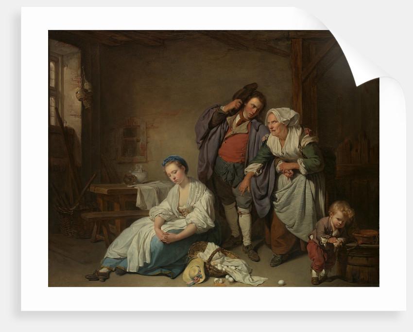 Broken Eggs, 1756 by Jean-Baptiste Greuze