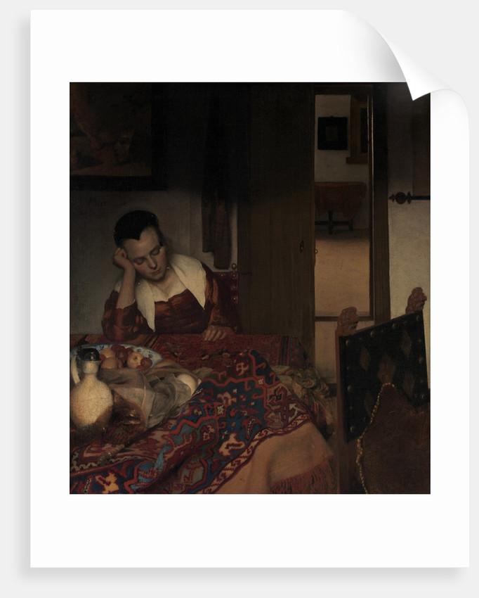 A Maid Asleep, ca. 1656-57 by Jan Vermeer