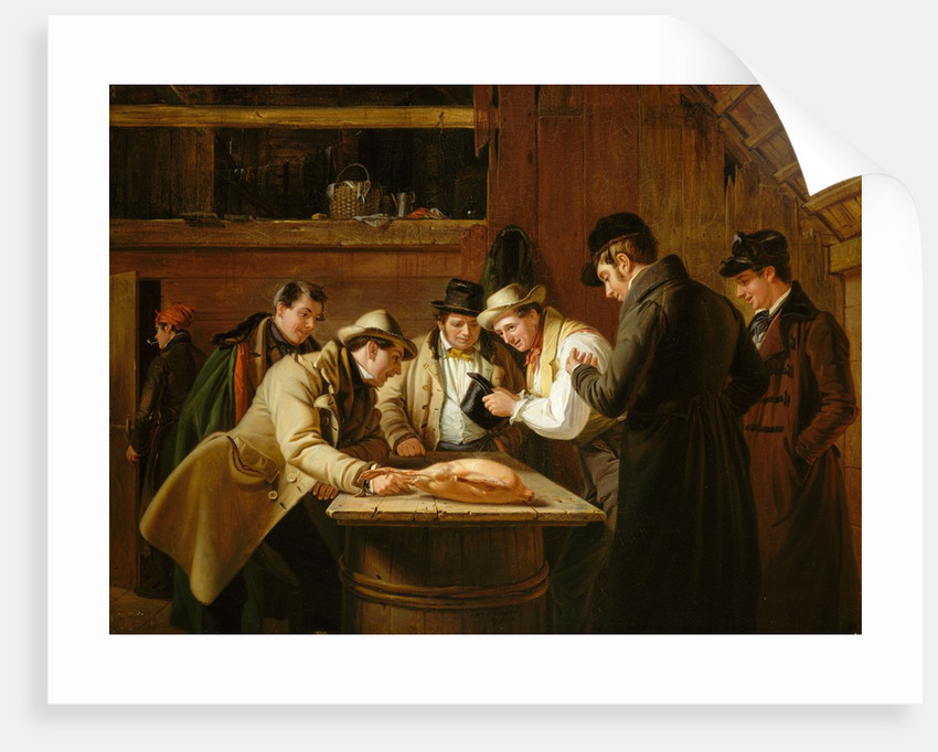 The Raffle, 1837 by William Sidney Mount