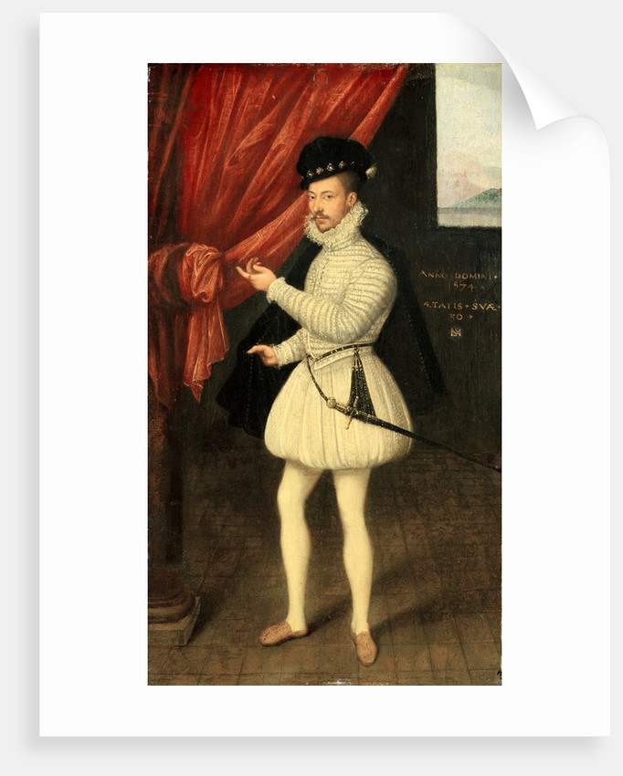 Portrait of a Man in White, 1574 by Monogrammist LAM