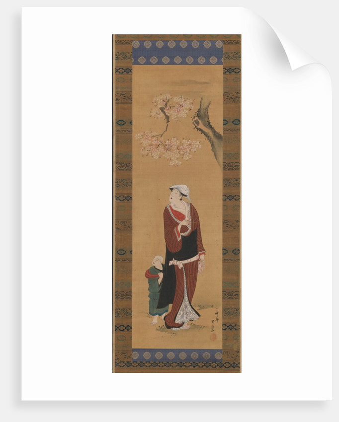 Woman and Child under a Cherry Tree, late 18th-early 19th century by Utagawa Toyohiro