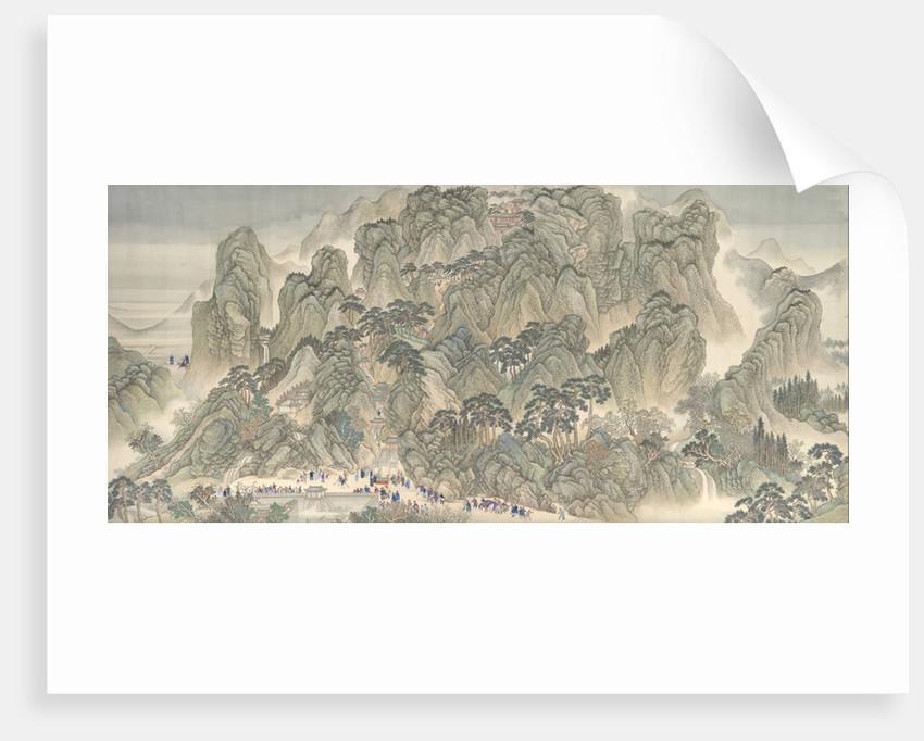The Kangxi Emperor's Southern Inspection Tour, Scroll Three: Ji'nan to Mount Tai, datable to 1698 by Wang Hui