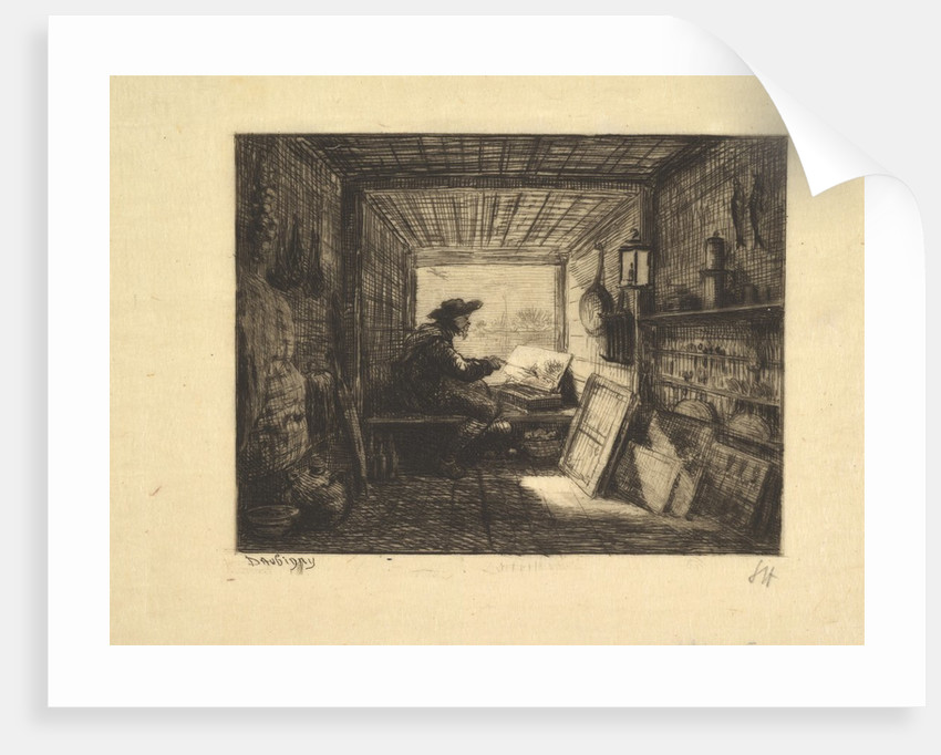 The Boat Studio, from series Voyage en Bateau, 1862, 1861 by Charles Francois Daubigny