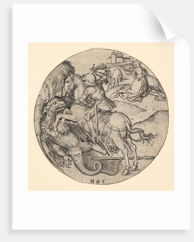 St. George Slaying the Dragon, ca. 1435-1491 by Martin Schongauer