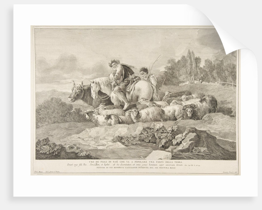 One of the Sons of Noah who Goes to Populate a Part of the Earth, 1743-63 by Pietro Monaco