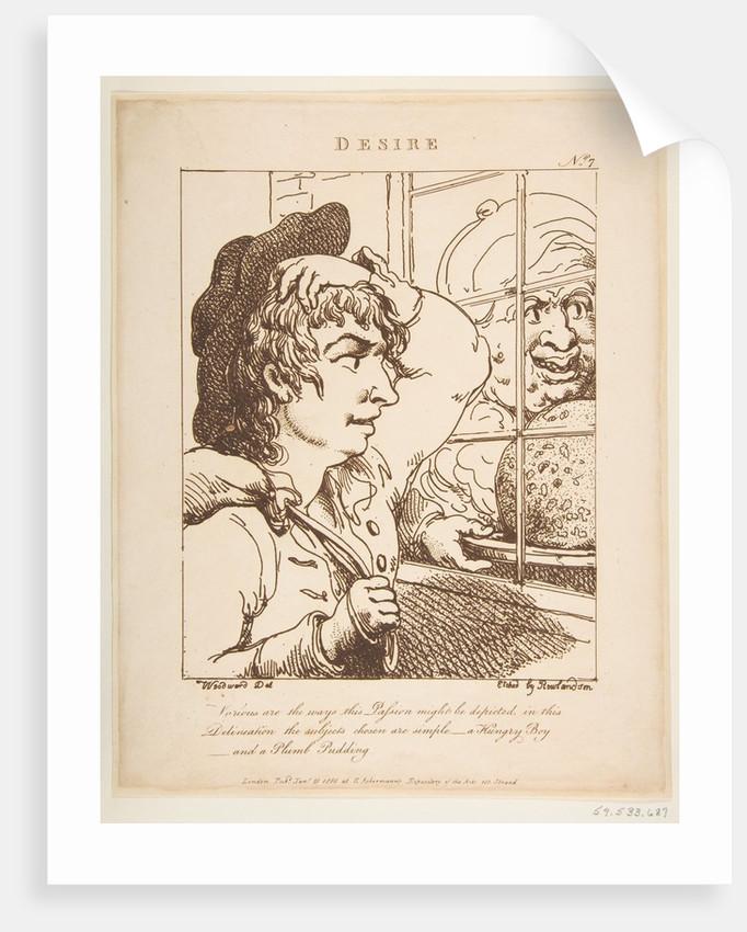 Desire, January 20, 1800 by Thomas Rowlandson