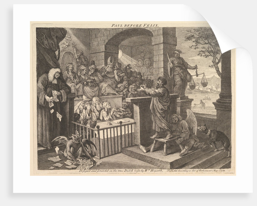 Paul Before Felix Burlesqued, May 1751 by William Hogarth