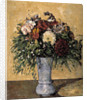 Flowers in a Blue Vase by Paul Cezanne