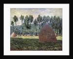 Haystack in Giverny, 1884-1889 by Claude Monet