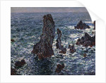 The Rocks in Belle-Ile (Pyramides de Port-Coton, Mer sauvage), 1886. by Claude Monet
