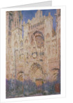 Rouen Cathedral at Sunset by Claude Monet