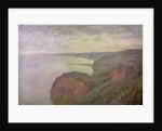 Steep Cliffs near Dieppe, 1897. by Claude Monet