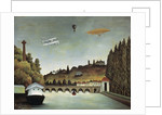 View of the Sevres Bridge and the Hills of Clamart, Saint-Cloud and Bellevue by Henri Rousseau