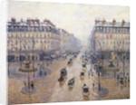L'Avenue de l'Opéra. Snow. Morning by Camille Pissarro