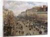 Boulevard Montmartre in Paris by Camille Pissarro