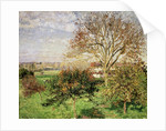 Autumn morning at Èragny by Camille Pissarro