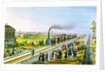 Opening of the first railway line from St Petersburg to Pavlovsk, Russia by Russian Master