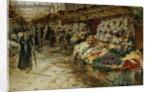 Flower Market, 1882. by Jean Francois Raffaelli
