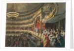 Auditorium of the Bolshoi Theatre, Moscow, Russia by Mihaly Zichy