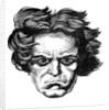 Ludwig van Beethoven, German composer by Nikolaj Ivanovic Piskarev