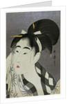 Woman Wiping Sweat, 1798. by Kitagawa Utamaro