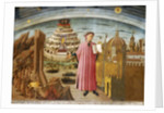 Dante and the Divine Comedy (The Comedy Illuminating Florence) by Domenico di Michelino