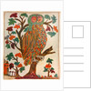 Owl, Lubok print by Anonymous
