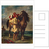 A Moroccan Saddling his Horse by Eugene Delacroix