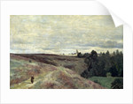 Heather covered hills near Vimoutier, 1860s by Anonymous