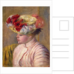 Young Woman in a Flowered Hat by Pierre-Auguste Renoir
