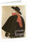Aristide Bruant in His Cabaret', (Poster) by Henri de Toulouse-Lautrec