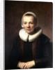 Portrait of Baartje Martens-Doomer by Rembrandt (Rembrandt van Rijn)
