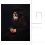 Portrait of an Old Jew, 1654. by Rembrandt Harmensz van Rijn
