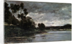 The River Bank, 1866. by Charles François Daubigny