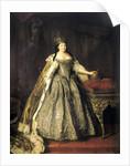 Portrait of Empress Anna Ioannovna,, 1730. by Louis Caravaque